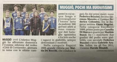 Cross di Cornaredo 24/11/19 - Articolo dal Giornale di Monza