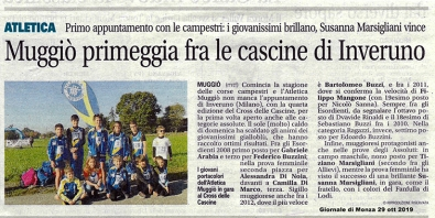 articolo Giornale di Monza 29 ott 2019
